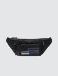 Prada Black Quilted And Blue Patch Nylon Fanny Pack Picture