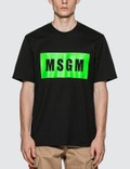 MSGM Fluorescent Box Logo T-Shirt Picture