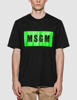 MSGM Fluorescent Box Logo T-Shirt