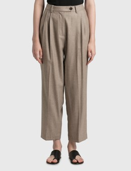 Nothing Written Wool Flannel Tuck Pants