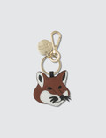 Maison Kitsune Leather Fox Head Keyring Picutre