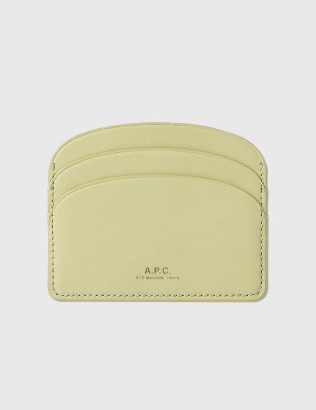 A.P.C. Half Moon Card Holder Kao Bergamotte Women
