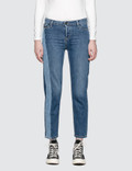 Calvin Klein Jeans Straight Ankle Jeans With Dark Vert Picture