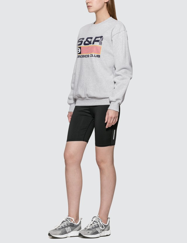 Sporty & Rich Flag Crewneck Sweatshirt
