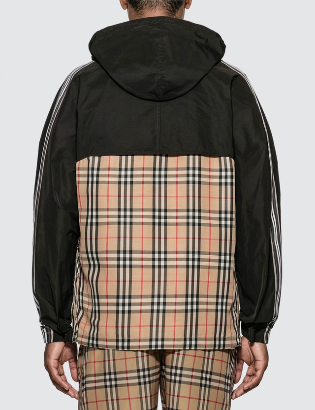 Burberry Check Panel Shape-memory Taffeta Hooded Jacket