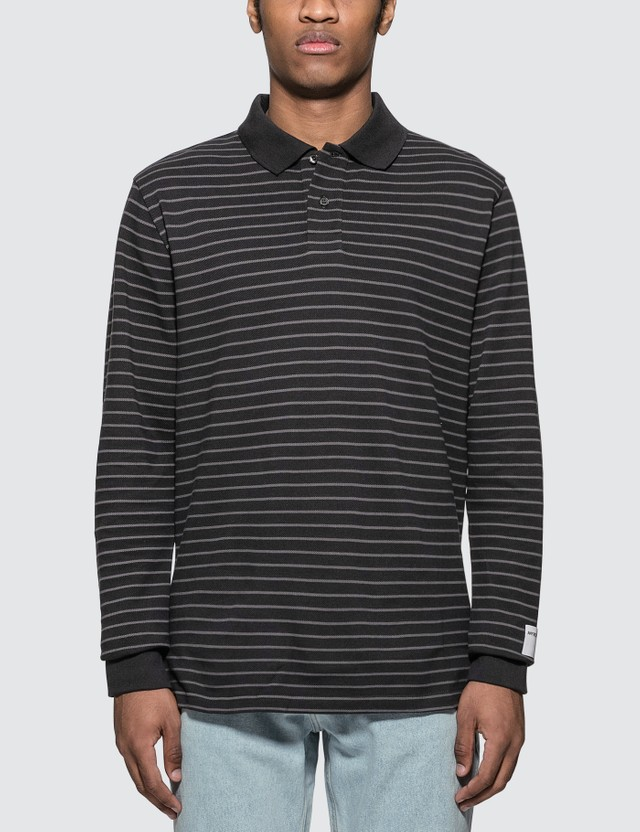 Martine Rose Stripes Polo Shirt Grey Stripe Men