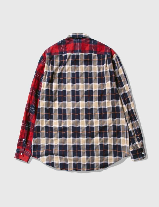 Loewe Patchwork Check Shirt Multicolor Men