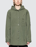 Alexander Wang.T Pajama Utility Hooded Oversized Shirt Picture