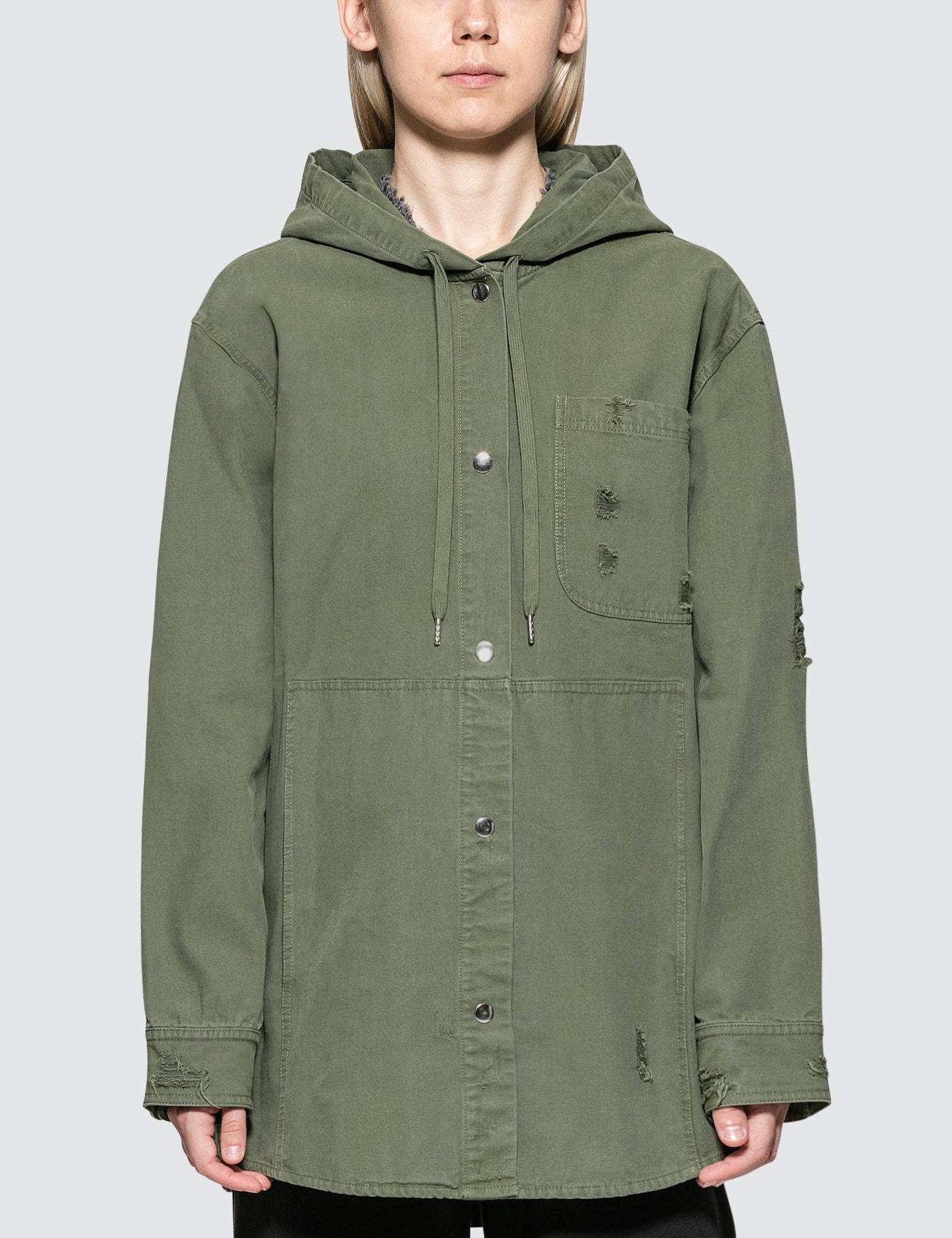 Alexander Wang.T Pajama Utility Hooded Oversized Shirt