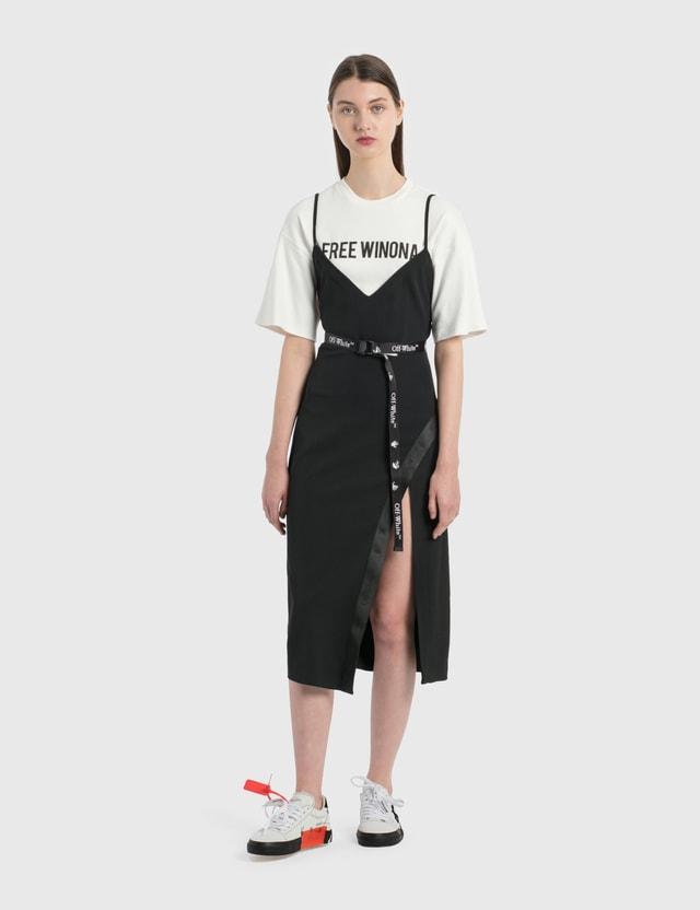 Off-White New Logo Mini Industrial Belt Black White Women