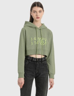 MM6 Maison Margiela Overdyed Cropped Hoodie