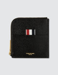 Thom Browne Square Half Zip Around Wallet In Pebble Grain Picture