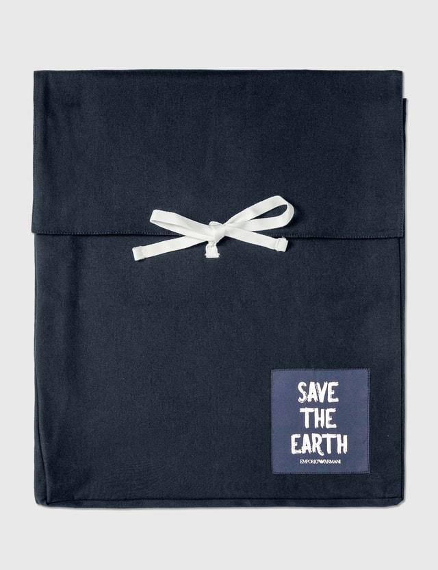 Emporio Armani Organic Cotton Drawstring Pants Blu Navy Men