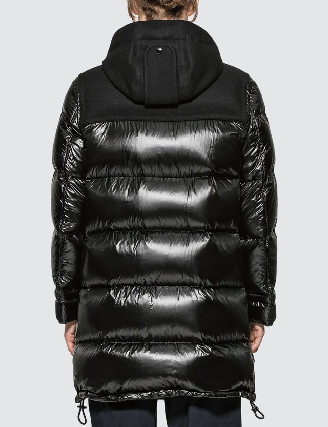 Burberry Technical Wool Detail Puffer Coat