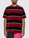 Stussy Velour Stripe T-Shirt Picture
