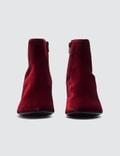MM6 Maison Margiela Velvet Cube Heel Boots
