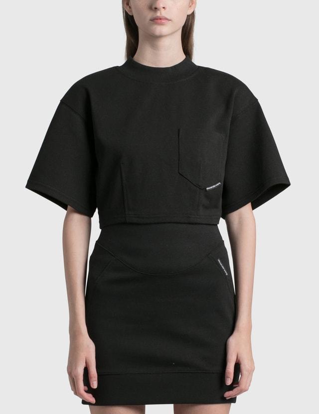 Alexander Wang.T Sculpted Cropped T-shirt Black Women
