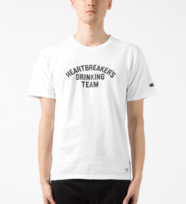 52dc5031 Bedwin & The Heartbreakers - White Yale Champion Print T-Shirt | HBX