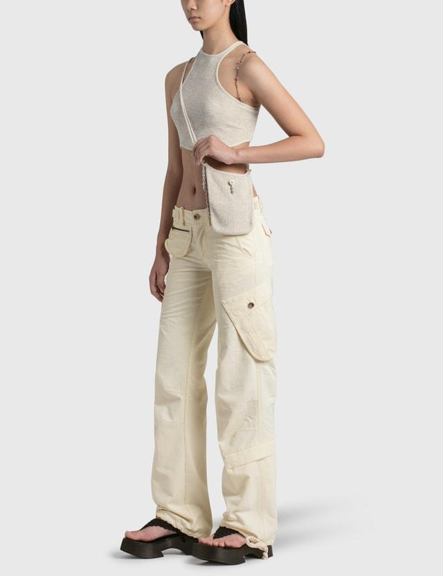Hyein Seo Low Rise Cargo Pants Ivory Women
