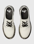 Dr. Martens 1461 Smooth Leather Shoes With Hearts Patch White Women