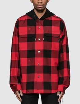 Mastermind World Check Plaid Shirt Jacket