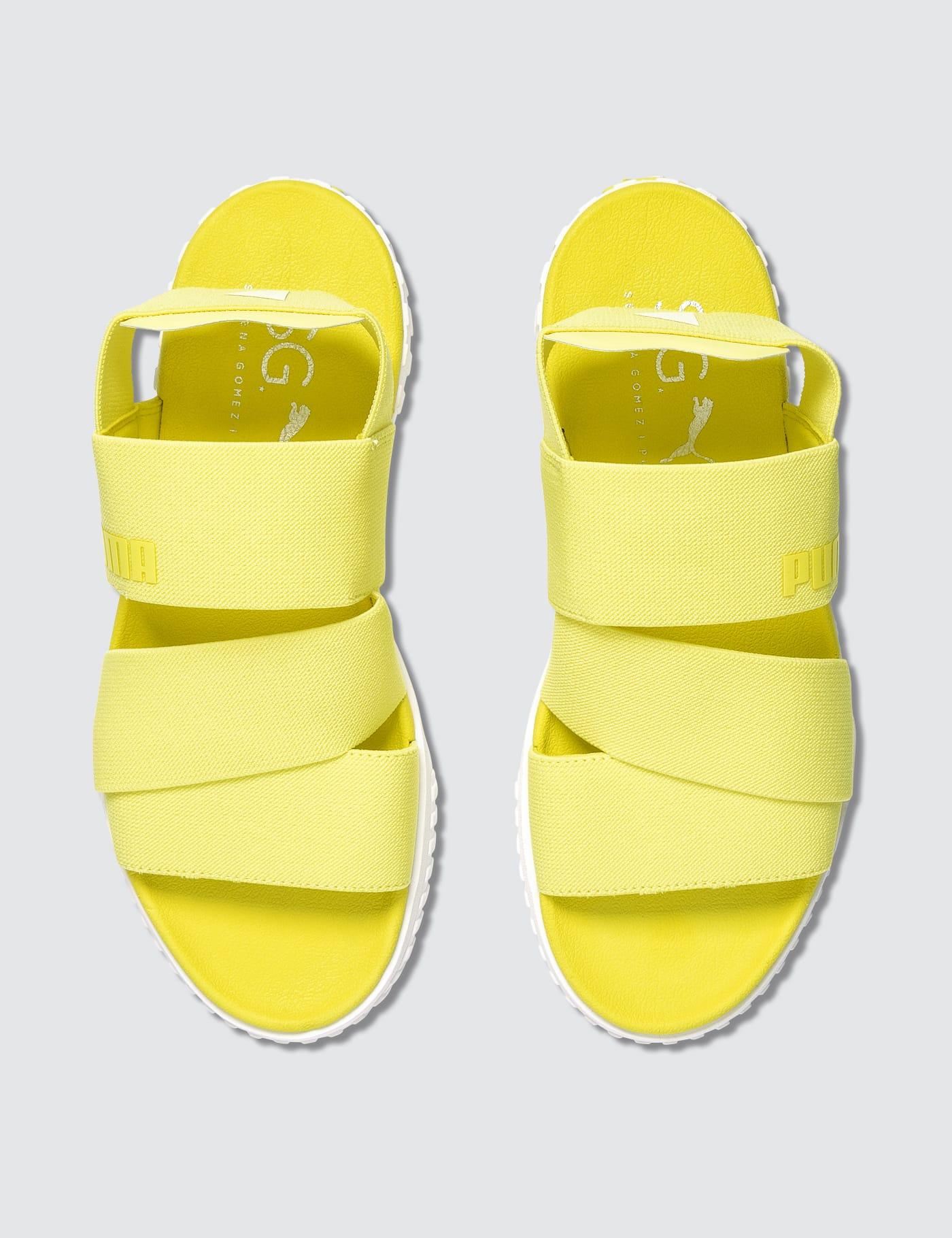 puma yellow sandals