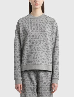 Ganni Jacquard Isoli Dropped Shoulder Sweatshirt