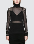 Helmut Lang Sheer Tulle Longsleeve Top Picture