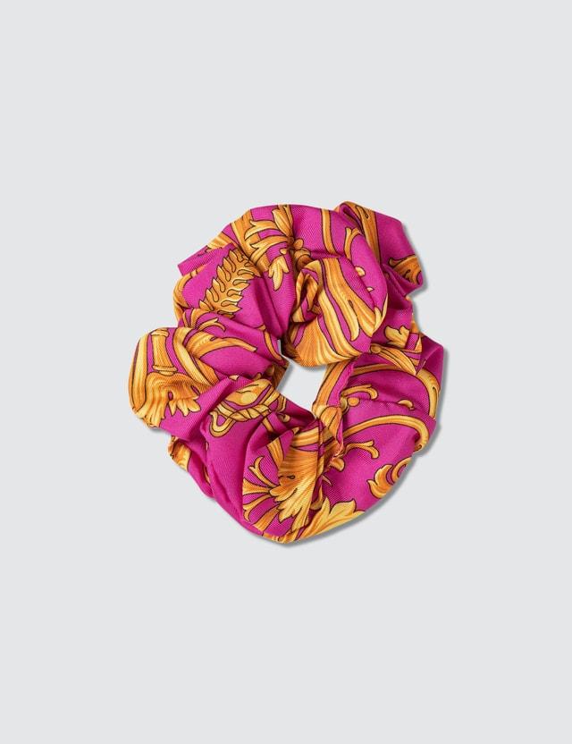 Versace Barocco Signature Print Silk Hair Tie
