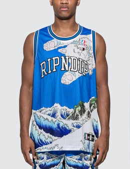 RIPNDIP Great Wave Mesh Basketball Jersey