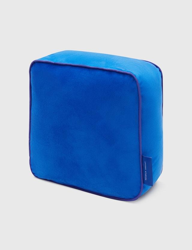 Crosby Studios Blue Blue Velvet Pillow
