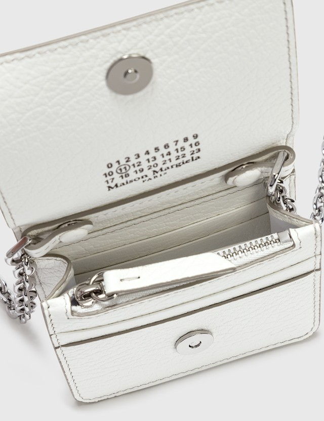 Maison Margiela Chain Small Wallet White Women