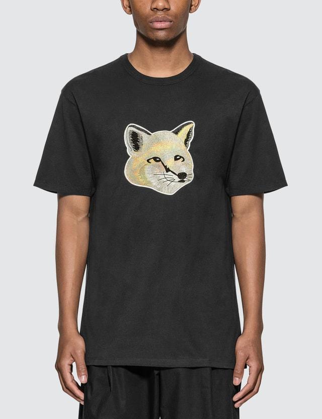Maison Kitsune Pastel Fox Head Embroidery T-shirt
