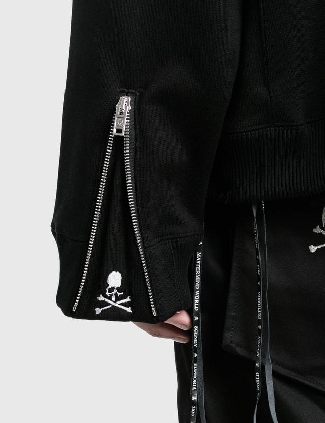 Mastermind World Boxy Sequins Zip Up Hoodie Black Men