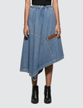 Loewe Asymmetric Denim Skirt Picture