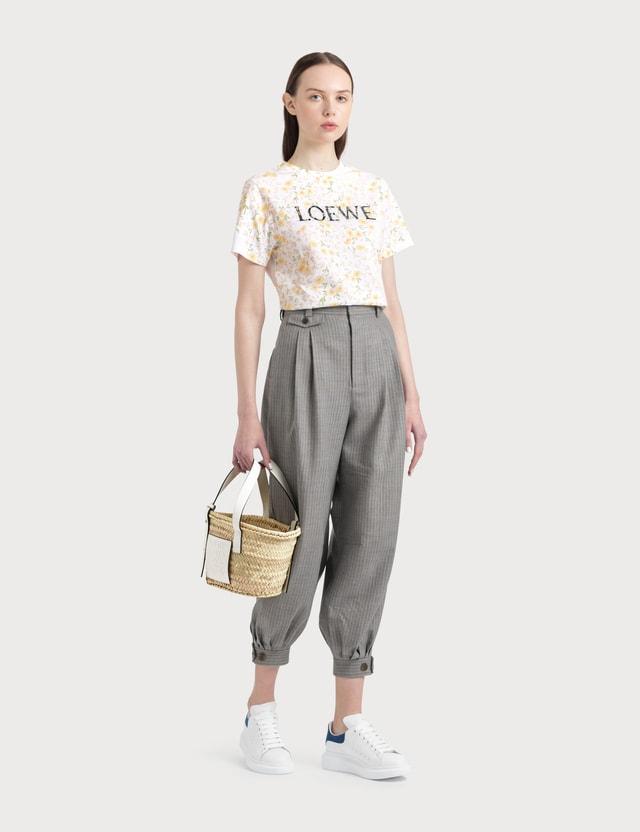 Loewe Flower Print Loewe T-shirt White/yellow Women