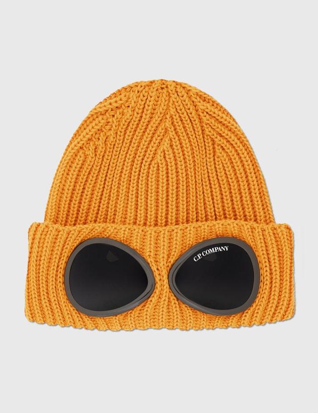 C.P. Company Extra Fine Merino Wool Goggle Beanie Desert Sun Men