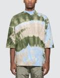 Sasquatchfabrix. Tye-dye Mockneck Half Sleeve T-shirt Picutre
