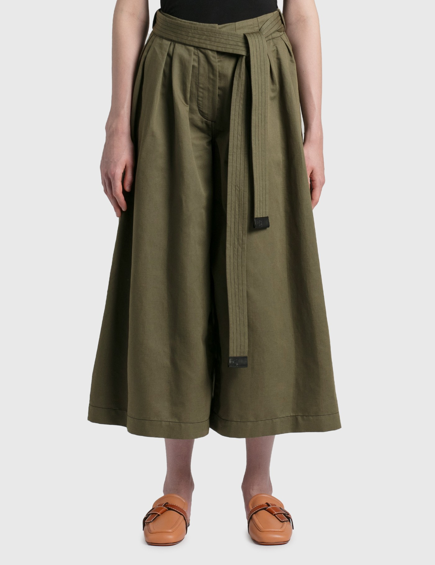 Loewe CROPPED BELTED TROUSERS