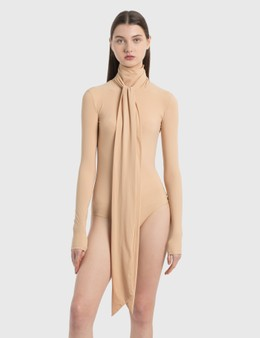 MM6 Maison Margiela Tie Neck Bodysuit