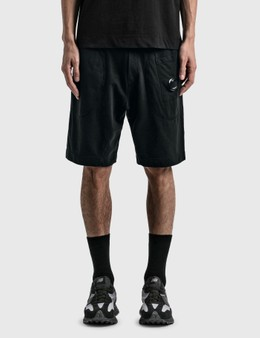 CP Company Light Fleece Garment Dyed Shorts