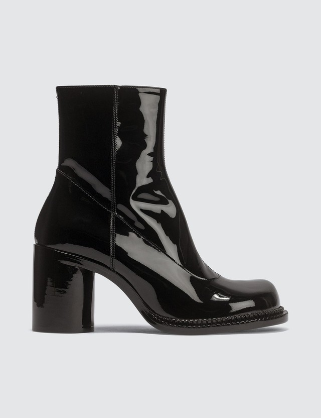 Maison Margiela Ankle Patent Leather Boots