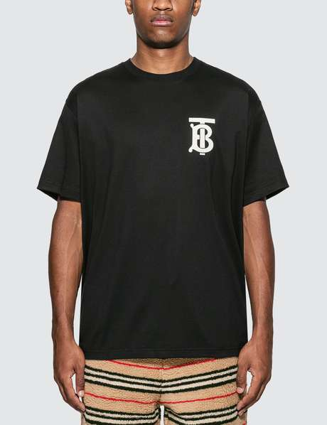 버버리 Burberry Monogram Motif Cotton Oversized T-shirt
