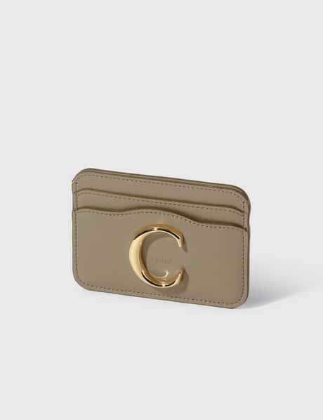 끌로에 Chloe Chlou00e9 C Shiny Calfskin Card Holder
