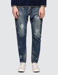 Denim By Vanquish & Fragment Used Paint Processing Tapered Denim Jeans Picture