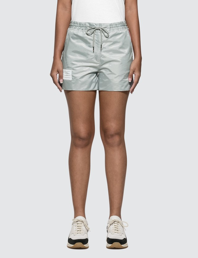 Thom Browne Track Shorts Light Grey Women