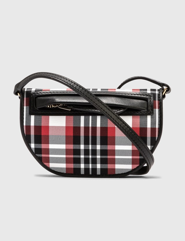 Burberry Knitted Tartan Olympia Card Case with Detachable Strap