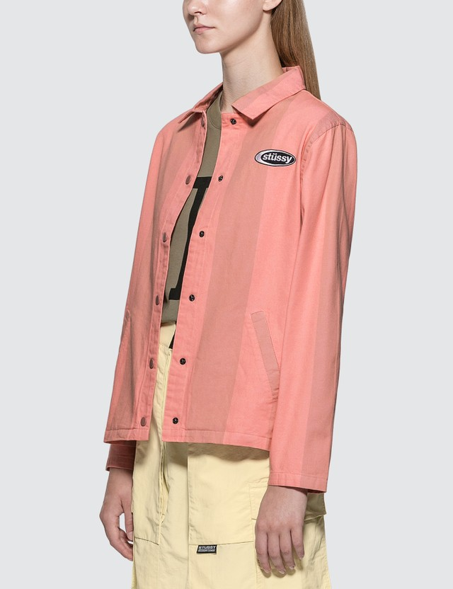Stussy Etta Striped Coach Jacket
