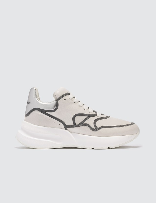 Alexander McQueen Chunky Sneakers with Silver Lining