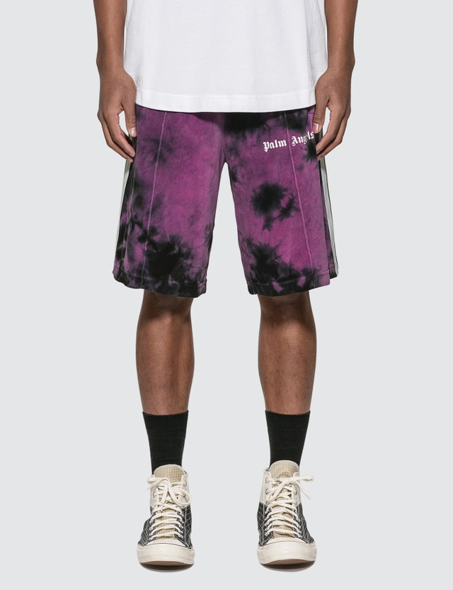 Palm Angels Tie Dye Chenille Track Shorts